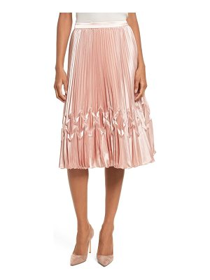 TED BAKER Zigzag Detail Pleated Midi Skirt