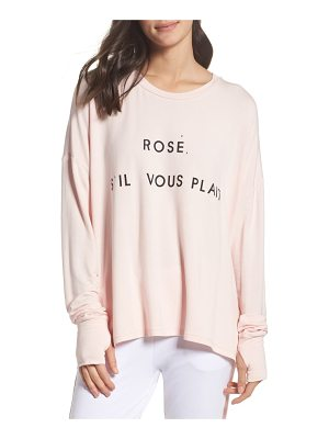 THE LAUNDRY ROOM Rose Please Sweatshirt