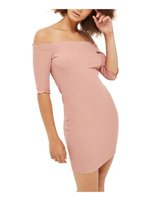 Topshop frill off the shoulder minidress