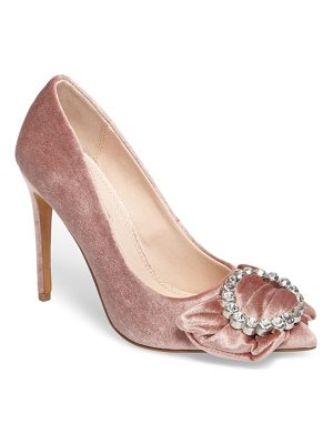 Topshop glamorous bow court pump