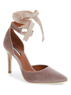 TOPSHOP Graceful Ankle Tie D'Orsay Pump