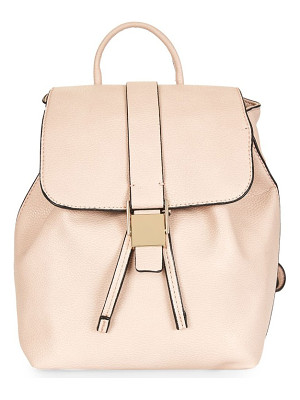 TOPSHOP Mini Glasgow Faux Leather Backpack