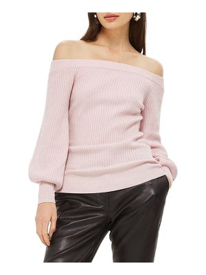 TOPSHOP Off The Shoulder Sweater