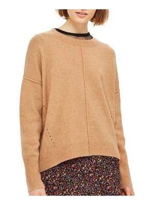 TOPSHOP Pointelle Detail Sweater