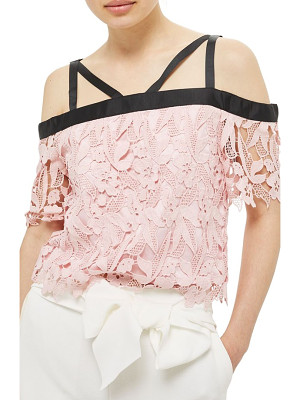 Topshop strappy lace top