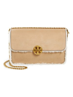 TORY BURCH Chelsea Leather & Genuine Shearling Shoulder Bag