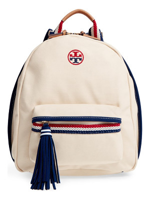 TORY BURCH Preppy Canvas Backpack
