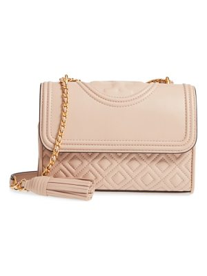 TORY BURCH Small Fleming Quilted Lambskin Leather Convertible Shoulder Bag