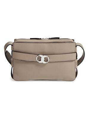 TORY BURCH Small Gemini Belted Leather Camera Bag