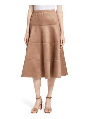TRACY REESE Metallic Midi Skirt