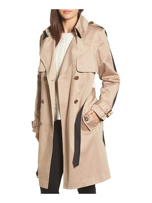 TRINA TURK Allison Two-Tone Trench Coat