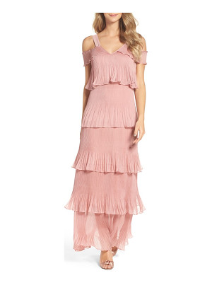 True Decadence cold shoulder ruffle gown