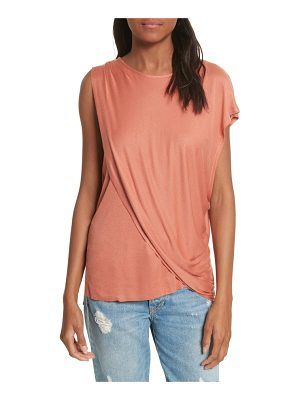 TWENTY Willow Shine One-Shoulder Draped Jersey Tee
