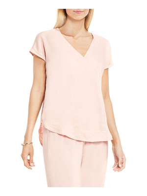 Vince Camuto two by  linen v-neck blouse