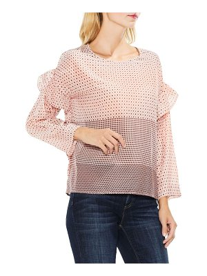 Two by Vince Camuto two by  quiet tile border ruffle top