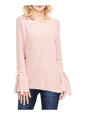 TWO BY VINCE CAMUTO Texture Stitch Tie-Sleeve Top