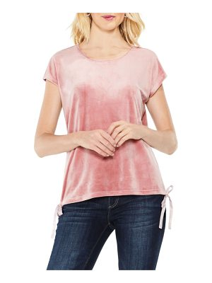 TWO BY VINCE CAMUTO Vince Camuto Side Tie Velour Top