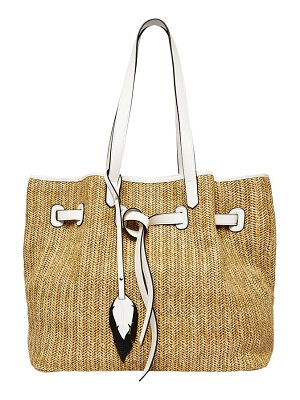 Urban Originals wild flower straw tote