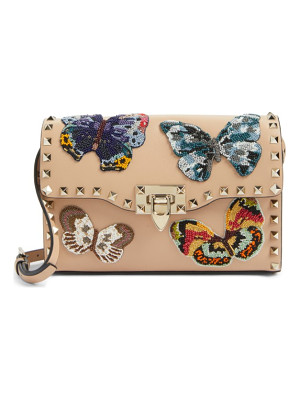 VALENTINO Valentino Medium Rockstud Butterfly Leather Shoulder Bag