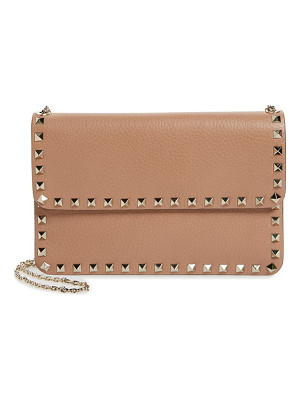 Valentino 'rockstud' calfskin leather shoulder bag