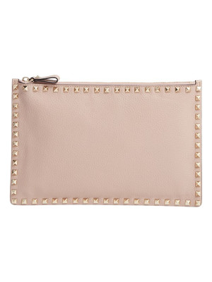 VALENTINO Rockstud Large Leather Pouch