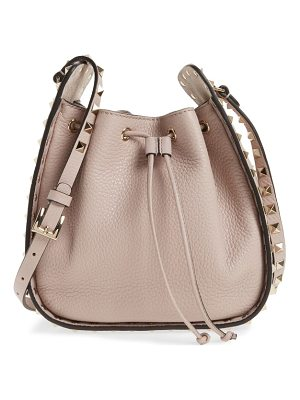 VALENTINO Rockstud Leather Bucket Bag