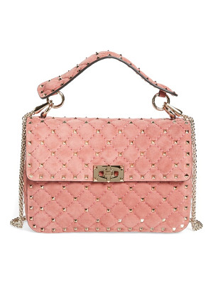 VALENTINO Rockstud Spike Leather Top Handle Crossbody Bag