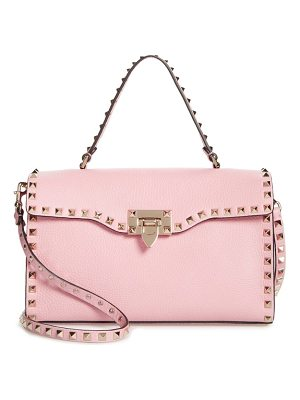 VALENTINO Small Rockstud Leather Single Handle Shoulder Bag