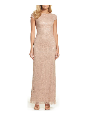 Vera Wang sequin lace gown