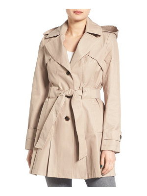 Via Spiga petite   'scarpa' hooded single breasted trench coat
