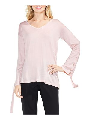 VINCE CAMUTO Lace-Up Bell Sleeve Sweater