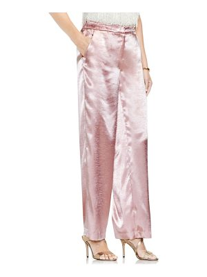 VINCE CAMUTO Wide Leg Hammered Satin Pants
