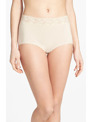 Wacoal 'cotton suede' lace trim briefs