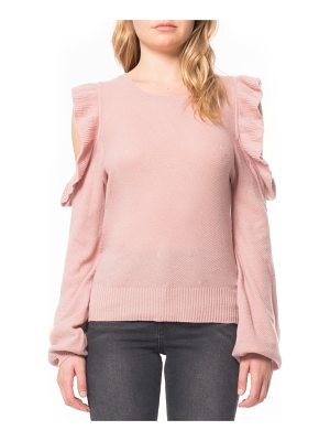 WILLOW & CLAY Cold Shoulder Ruffle Sweater