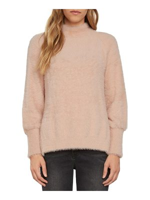 WILLOW & CLAY Fuzzy Mock Neck Sweater