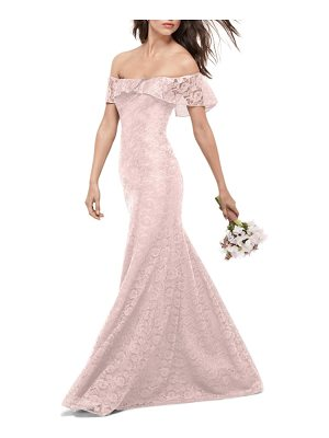 WTOO Amour Lace Off The Shoulder Gown