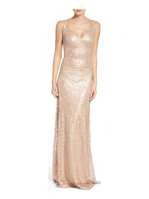 WTOO Sequin Embroidered A-Line Gown