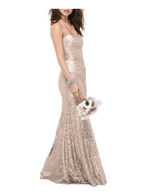 WTOO talisa sequin mesh strapless gown