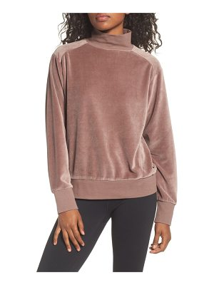 ZELLA Velour Mock Neck Top