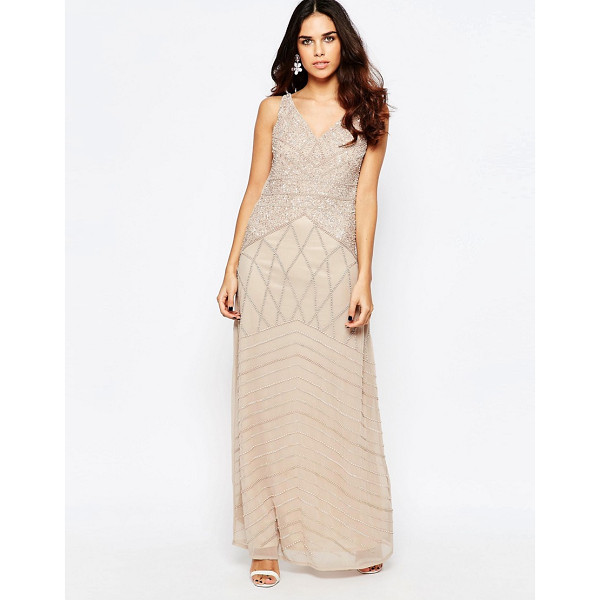 A STAR IS BORN All Over Embellished Maxi Dress - Maxi dress by A Star Is Born, Lined chiffon, Heavyweight...