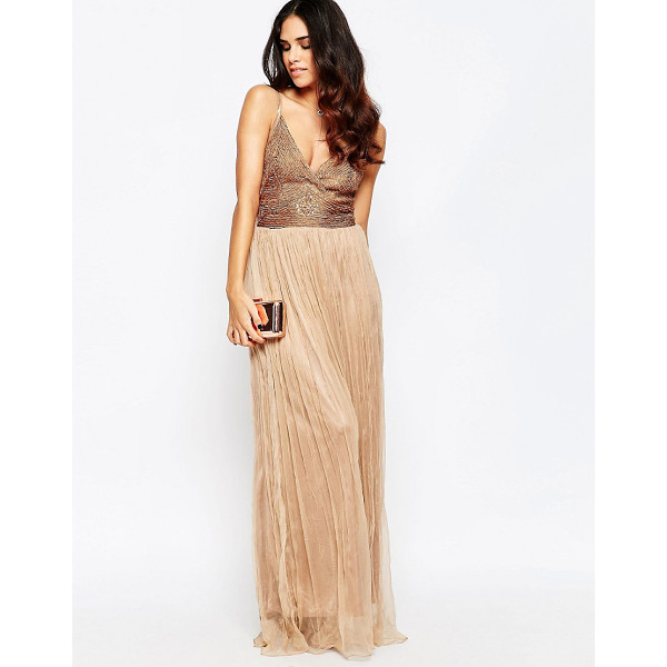 A STAR IS BORN Cami Maxi Dress With Embellished Detail - Evening dress by A Star Is Born, Lightweight lined fabric,...