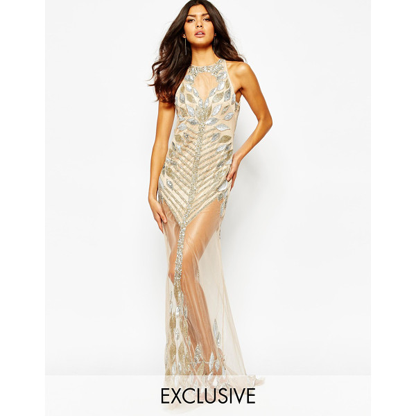 A STAR IS BORN Luxe allover jewel embellished maxi dress - Evening dress by A Star Is Born, Embellished sheer mesh,...
