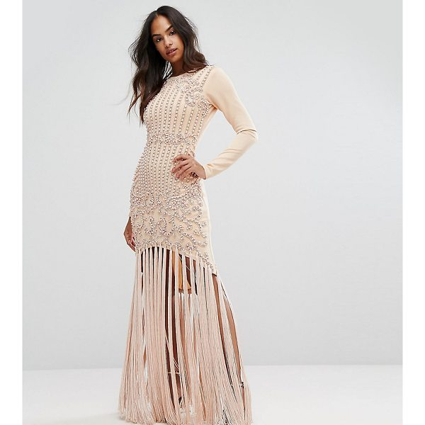 """A STAR IS BORN Pencil Dress With Faux Pearl Baroque Embellishment And Tassle Hem - """"""""Dress by A Star Is Born, Woven fabric, Faux-pearl..."""