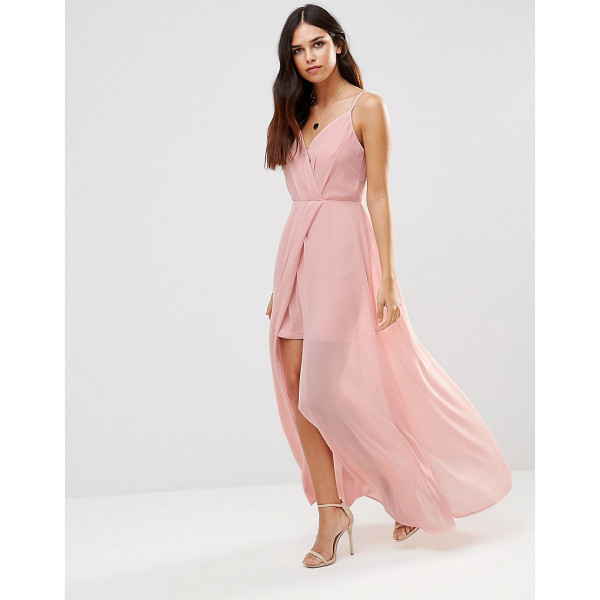 ADELYN RAE Gathered V Neck Maxi Dress - Evening dress by Adelyn Rae, Lightweight woven fabric,...