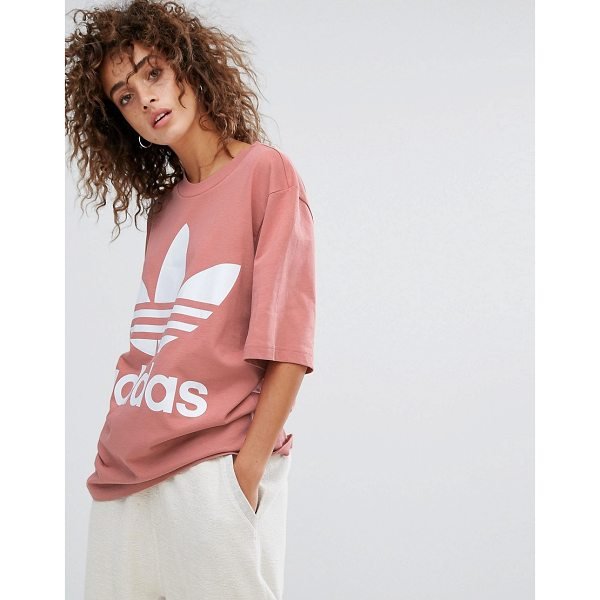 "ADIDAS Boxy Tee In Pink - """"T-shirt by Adidas, Soft-touch jersey, Crew neck, Dropped..."