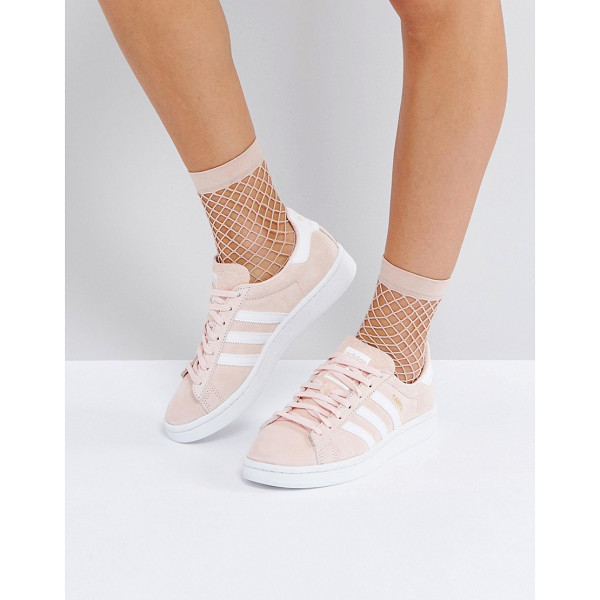 ADIDAS Campus Sneaker In Pale Pink - Sneakers by Adidas, Faux-suede upper, Lace-up fastening,...