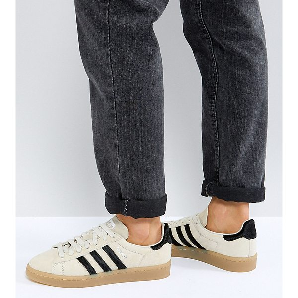 ADIDAS adidas Originals Campus Sneakers In Beige - Sneakers by adidas, Lace-up design, Pony hair 3-stripes,...