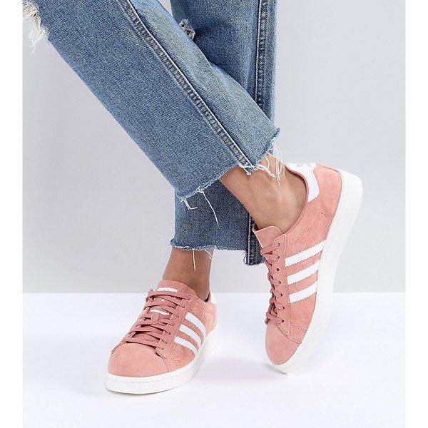 ADIDAS adidas Originals Campus Sneakers In Pink - Sneakers by adidas, Suede upper, Lace-up fastening, Branded...