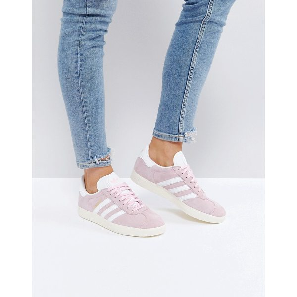 ADIDAS Gazelle In Pale Pink - Sneakers by adidas, Suede upper, Lace-up fastening, Branded...