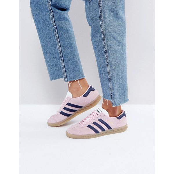 ADIDAS adidas Originals Hamburg Sneakers In Pink - Sneakers by adidas, Suede upper, Lace-up fastening, Branded...